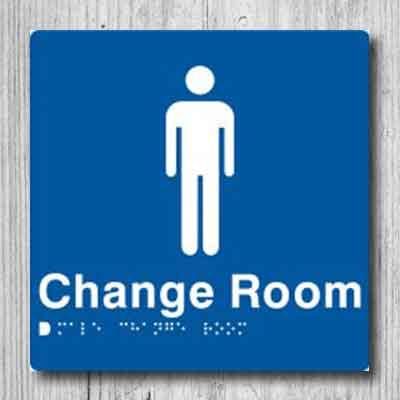 Male Change Room Sign MCR-BLUE