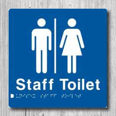 Unisex Staff Toilet Sign MFSffT-BLUE