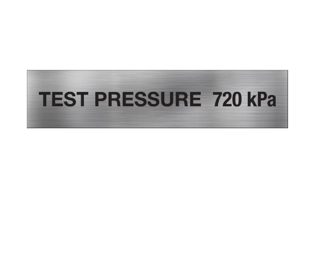 Test Pressure 720 kPa