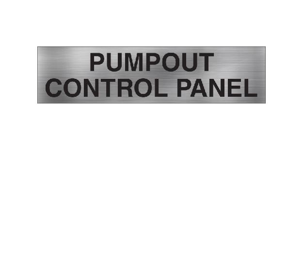 Pumpout Control Panel