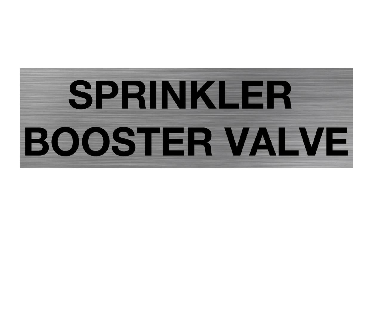 Sprinkler Booster Valve